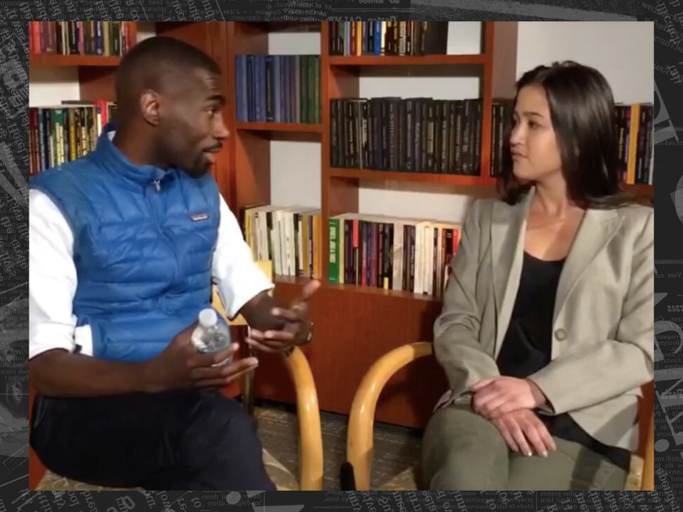 Alia sits down with the Black Lives Matter activist Deray McKesson at a Brookings Institution event in 2016 to discuss race and education in America. Click on the photo to listen to the conversation in full.
