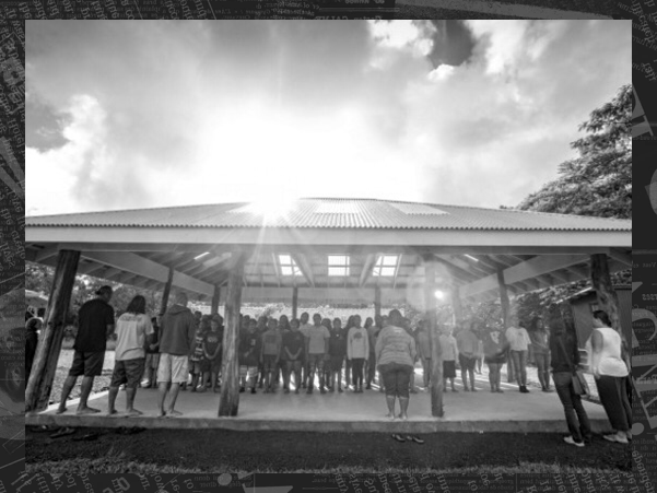 Alia observes students as they participate in their morning chant at Ka ʻUmeke Kāʻeo, a Hawaiian-language charter school on Hawaii's Big Island that incorporates indigenous world views into its curriculum. Click on the photo to read her profile of this school, and be sure to check out her other coverage of Hawaii's Hawaiian-culture charter schools. <p>[Credit: PF Bentley / pfpix.com]</p>