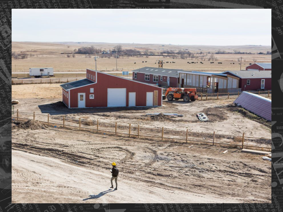 Alia traverses a construction site on the Pine Ridge Reservation in South Dakota. Click on the photo to read her story about the hardships faced by young Native Americans today, and how these youth are leveraging education to overcome their historical trauma and instill their communities with hope. <p>[Credit: Kristina Barker / kristinabarker.com]</p>